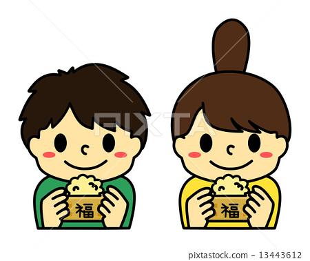 콩 뿌리기를하는 아이 2 13443612