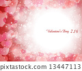 バレンタイン ハート 背景 13447113