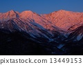 Shinshu Northern Alps Hakuba Miyama Morning glow Morgen Rote 13449153