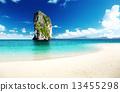 天堂 熱帶 海灘 13455298