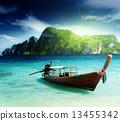 船 海灘 島 13455342