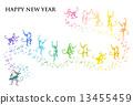 猴子 賀年片 新年賀卡 13455459