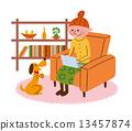 宠物 放松 夫人 13457874