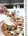 蘑菇 披薩 食物 13459416
