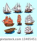 boat, sketch, ship 13465451