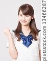 School girl high school student image 13466287