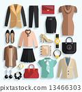 图标 服装 女企业家 13466303