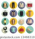 icons, clothe, set 13466310
