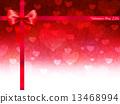 バレンタイン ハート 背景 13468994