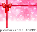 バレンタイン ハート 背景 13468995