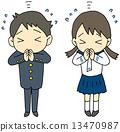 祈禱能通過入學考試 人類 人物 13470987