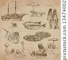 Croatia. Hand drawn vector pack. 13474002
