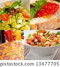 碟 蔬菜 拼貼 13477705
