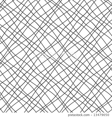 seamless pattern with crossed wavy lines grid texture stock
