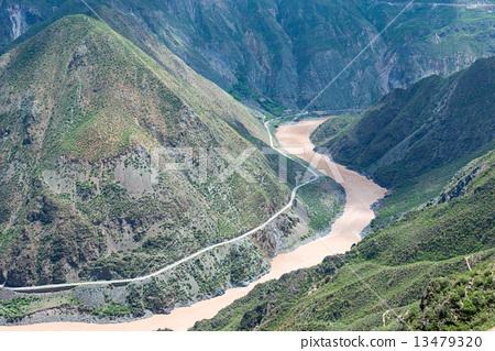 중국 윈난성 迪慶 티베트족 자치주 세계 자연 유산 · 싼 장빙 류 · 금사강 제일 만 13479320