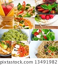 碟 蔬菜 拼貼 13491982