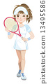 眨眼 网球 夫人 13495586