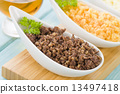 Haggis, Neeps, Tatties & Whisky Sauce - Typical Scottish meal  13497418
