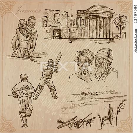 Jamaica Travel - An hand drawn vector pack 13497994