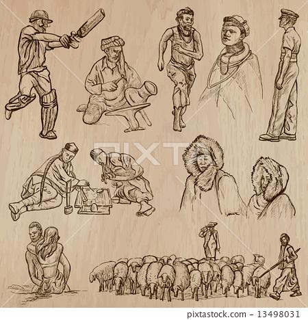 Natives - Hand drawn vectors 13498031