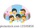 賞櫻 賞花 觀賞櫻花 13500856