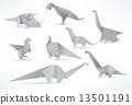 Origami dinosaurs 13501191