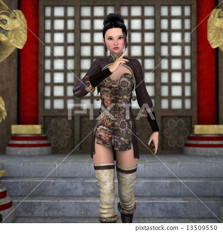 쿵푸 중국 여성 13509550
