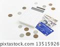 信用卡 現金 錢幣 13515926