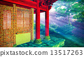 Buddhist temple in woods 13517263