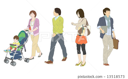 Person's whole-body illustration 13518573