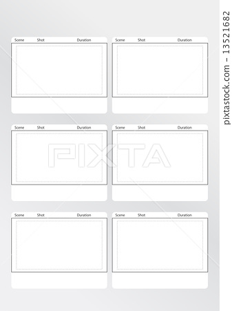 Storyboard Template Vertical X  Stock Illustration   Pixta