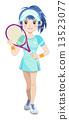 人 网球 夫人 13523077