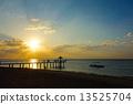 Sunset at Ishigakijima Fusaki Beach in Okinawa Prefecture 13525704