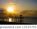 Sunset at Ishigakijima Fusaki Beach in Okinawa Prefecture 13525705