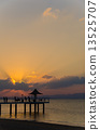 Sunset at Ishigakijima Fusaki Beach in Okinawa Prefecture 13525707