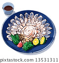 河豚魚生魚片 和食 酒館 13531311