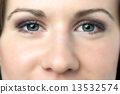 Closeup woman eyes 13532574