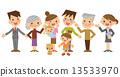 three, generations, vector 13533970