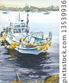 渔船 山水画 插图 13539936