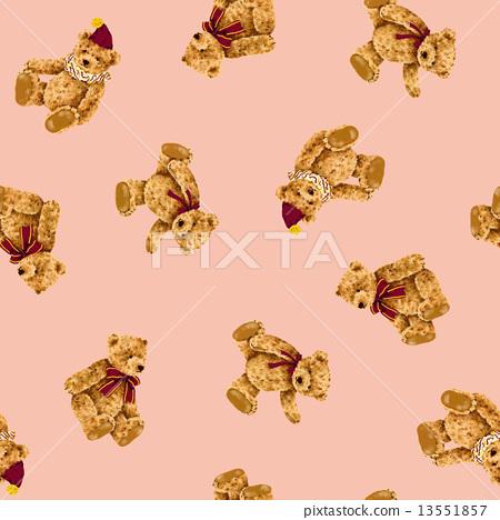 귀여운 곰 무늬 13551857