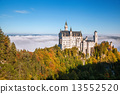 城堡 巴伐利亞 新天鵝堡 13552520