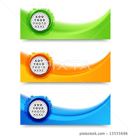 flyer template header design stock illustration 13555696 pixta