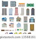 矢量 建筑 房屋 13568161