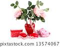 情人节 花瓶 彩带 13574067