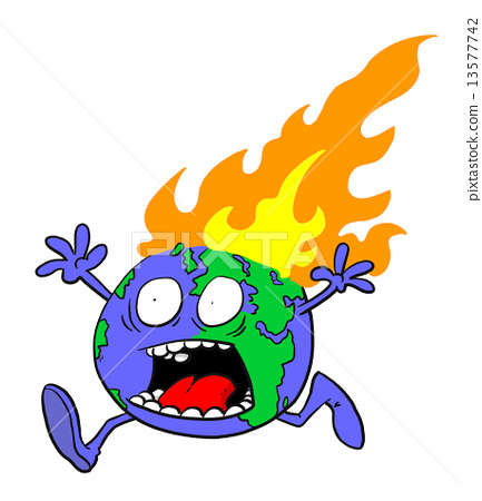 Planet Earth on fire 13577742