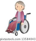 wheelchair, senior adult, aged 13584043