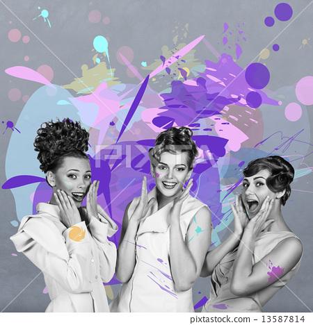Laughing beautiful women 13587814