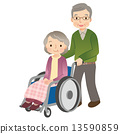 wheelchair, person, husband and wife 13590859