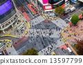 Shibuya Crossing, Tokyo, Japan. 13597799