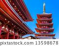 Sensoji-ji, Temple in Asakusa, Tokyo, Japan. 13598678